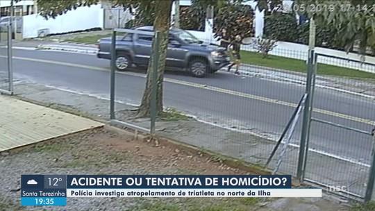 Triatleta é atropelado após discussão de trânsito em Florianópolis; VÍDEO