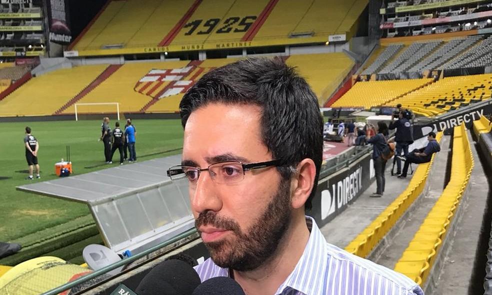 André Zanotta se tornou uma das figuras centrais no Grêmio (Foto: Eduardo Moura )
