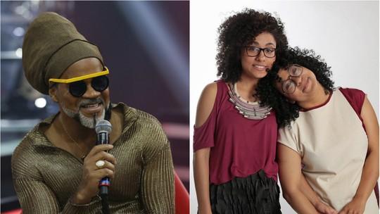 Carlinhos Brown relembra participação de Lilian e Layane no 'The Voice Brasil': 'Fenômenos'