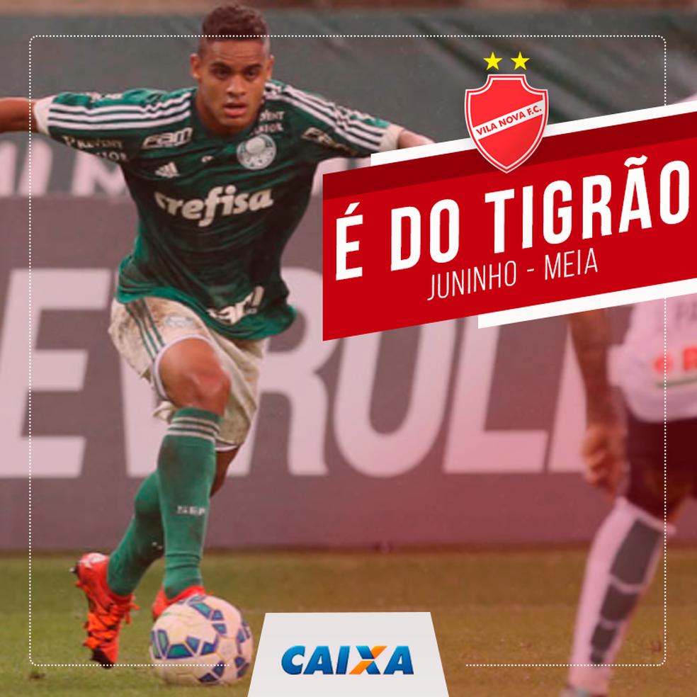 a58fc1d80c742 ... Vila Nova anuncia contratação do meia Juninho — Foto  Comunicação    Vila Nova