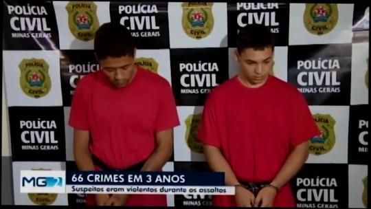 Dupla presa em Carmo do Cajuru é apontada como autora de pelo menos seis crimes cometidos