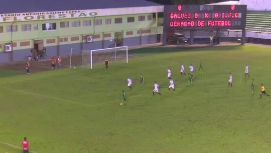 Rafael Tanque marca duas vezes e Galvez vence na estreia do estadual