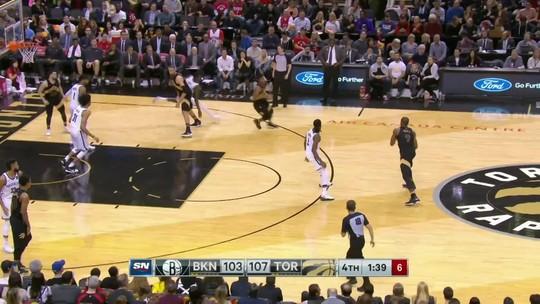 Melhores momentos: Brooklyn Nets 112 x 116 Toronto Raptors pela NBA