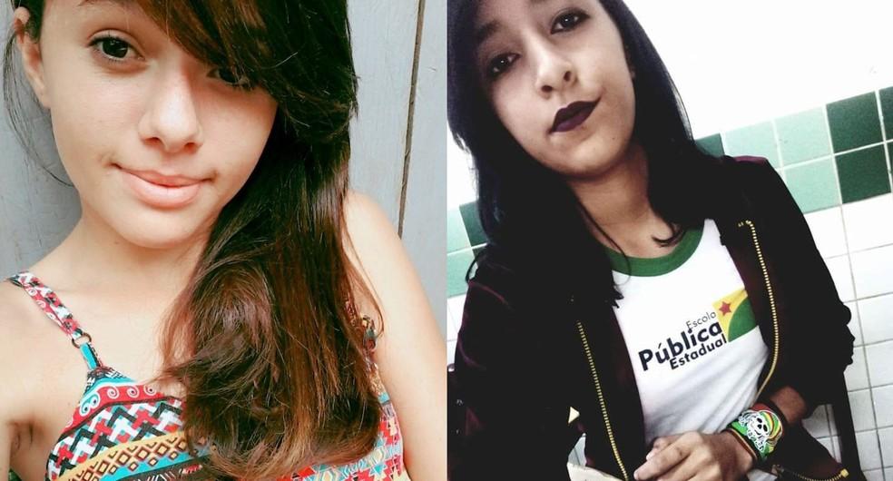 Amanda Gomes, de 14 anos, continua desaparecida e corpo de Isabelle Silva, de 13 anos, foi achado em mata.  (Foto: Arquivo da família)