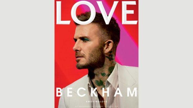 David Beckham na capa da revista 'Love' (Foto: Call This Number - Steve Mackey e Douglas Hart, Direção criativa: Katie Grand, Maquiadora: Miranda Joyce)