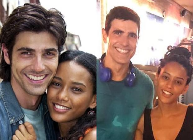 Taís Araújo e Reynaldo Gianecchini em Da Cor do Pecado (2004) e em 2018 (Foto: Divulgação/TV Globo e Reprodução/Instagram)