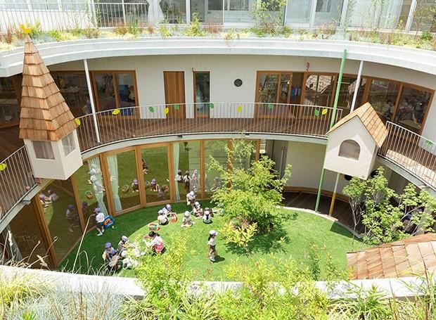 Jardim de infância tem arquitetura interativa em Tóquio