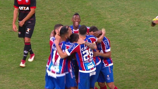 Veja os gols da goleada do Bahia sobre o Vitória