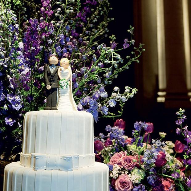 Topo de bolo de casamento: Tradicional (Foto: Edu Castello/Editora Globo)