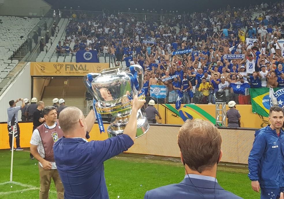 Mano Menezes, técnico do Cruzeiro foi bicampeão da Copa do Brasil — Foto: Guilherme Frossard