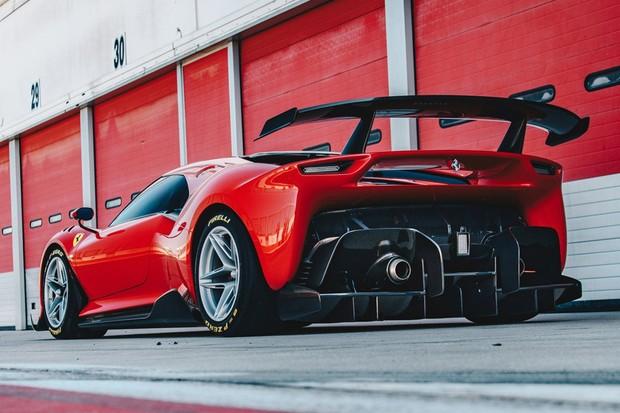 Traseira da Ferrari P80/C (Foto: Divulgação)