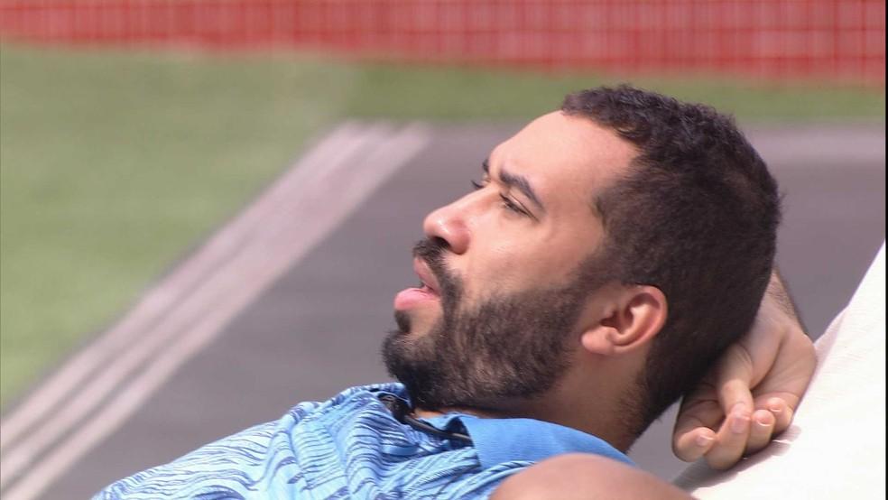 Gilberto sobre brother do BBB21: 'Ele só quer pensar no dele' — Foto: Globo