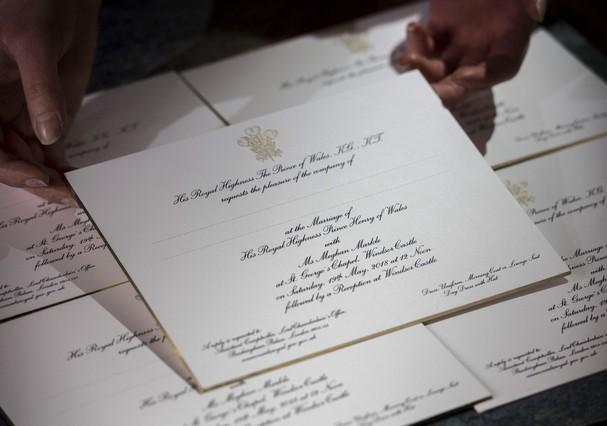 Convites do casamento de Meghan e Harry (Foto: Reprodução)