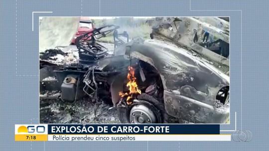 Grupo é preso suspeito de explodir carro-forte na BR-040, em Cristalina