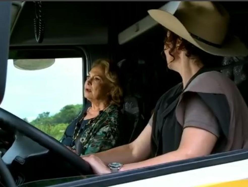 Íris termina 'Fina Estampa' como caminhoneira  — Foto: Globo
