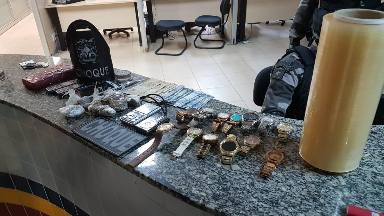 Choque flagra casal de traficantes e fecha boca de fumo em Boa Vista