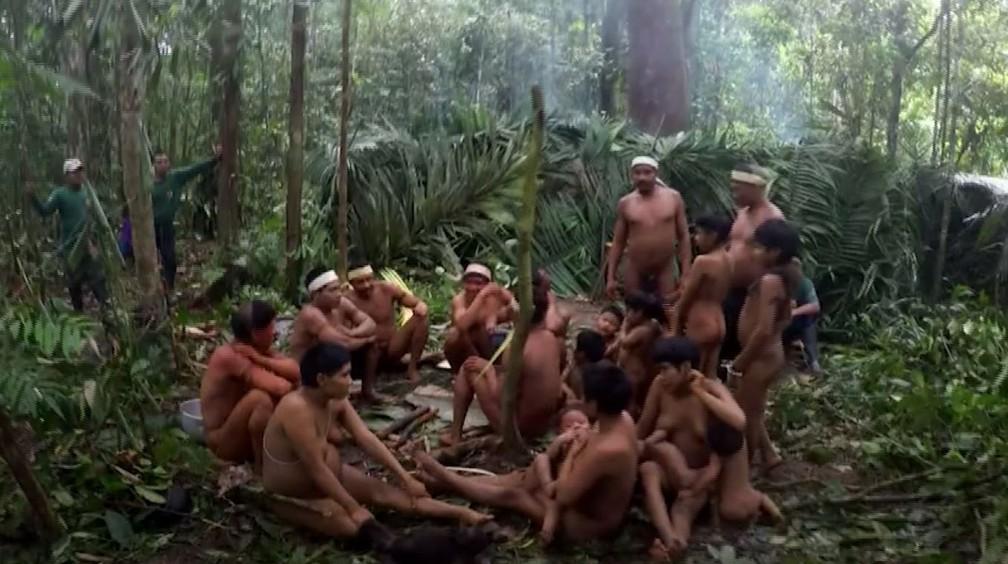 Índios isolados da Amazônia são ameaçados por presença de garimpeiros. — Foto: Arquivo/Funai