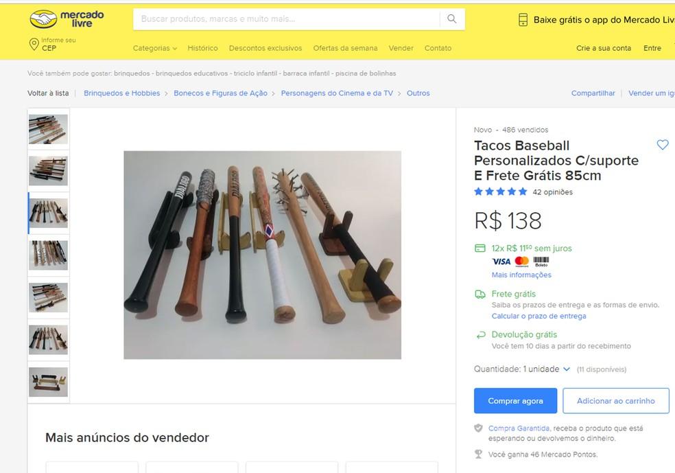 63eb466c0 ... Anúncio foi tirado do ar pelo site Mercado Livre após denúncias feitas  por internautas — Foto