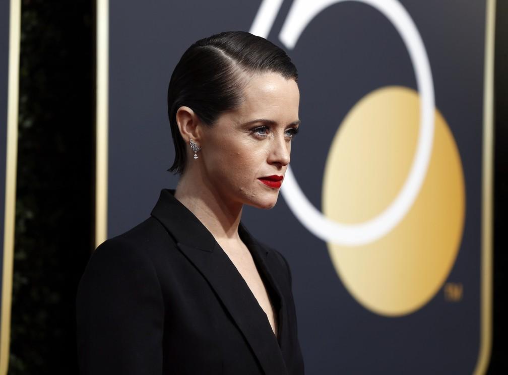 -  Claire Foy, de   39;The Crown  39;, no Globo de Ouro 2018; ela é a nova interprete da versão para o cinema de Lisbeth Salander, da saga   39;Millenni