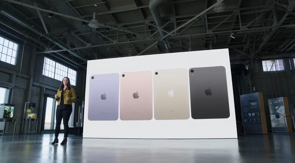 Novo iPad Mini é anunciado em 2021 com quatro cores — Foto: Reprodução/Apple