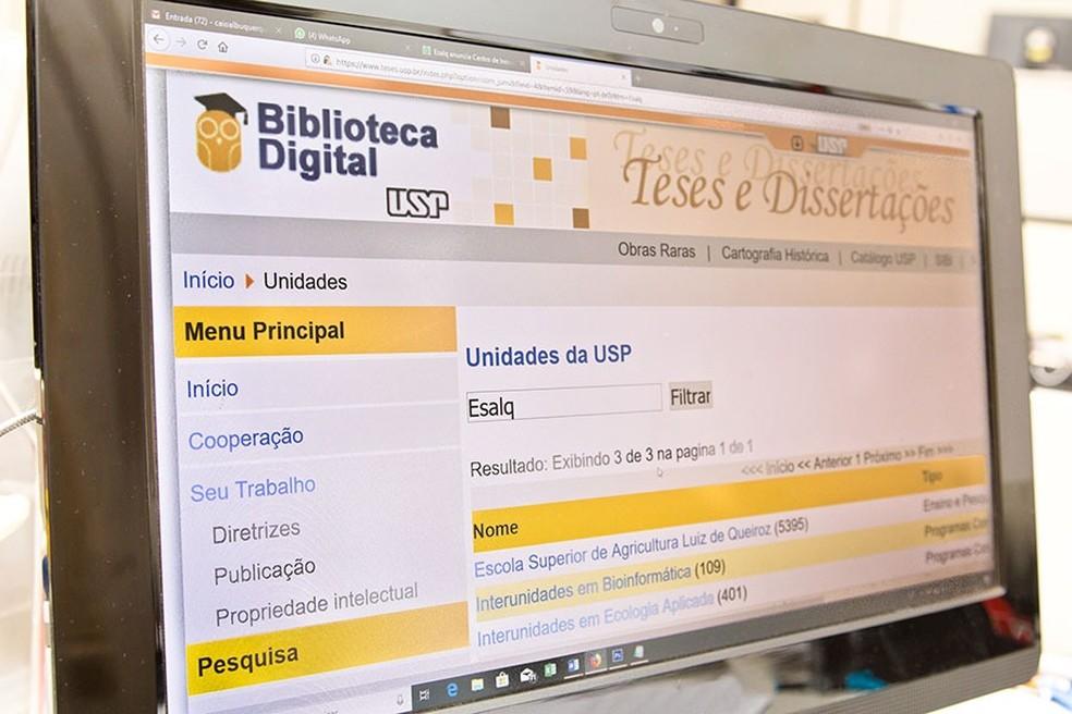 Teses da Esalq estão disponíveis gratuitamente na biblioteca digital da USP — Foto: Gerhard Waller - ESALQ/DvComun
