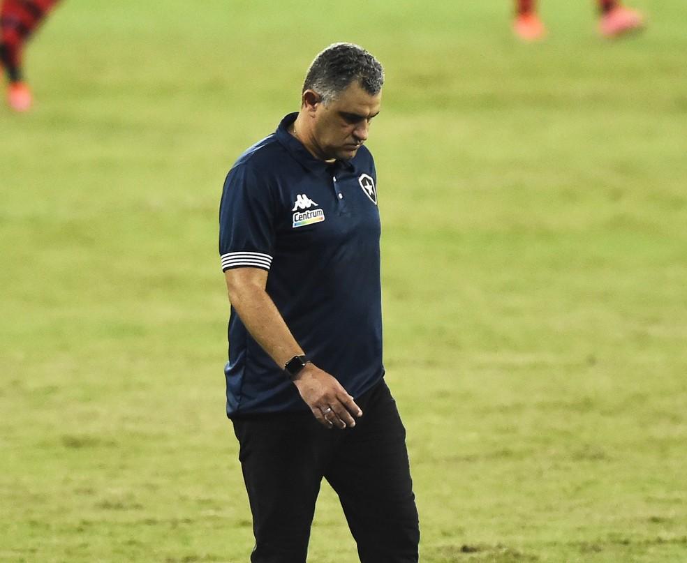 Marcelo Chamusca, Botafogo — Foto: André Durão / ge