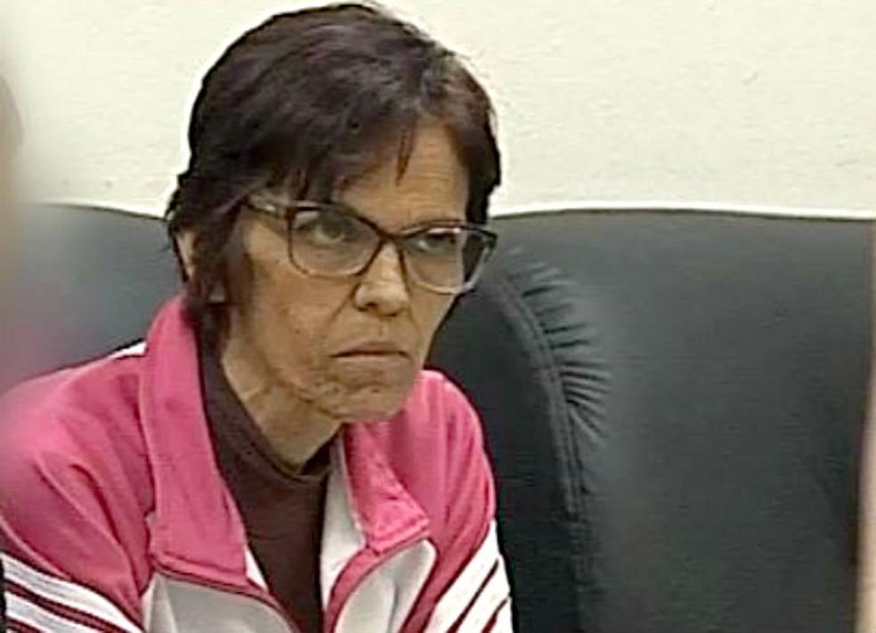 Para a Polícia Civil, Eliana Calixto, ex-mulher do PM aposentado, é a principal suspeita de planeja o crime — Foto: TV TEM/Reprodução