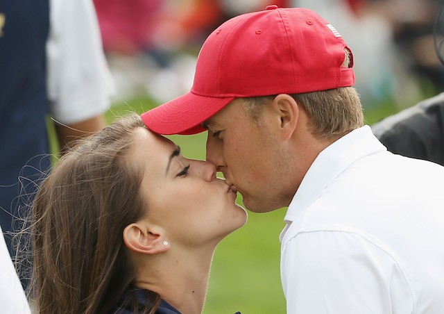 Jordan Spieth e Annie Verret (Foto: Getty Images)