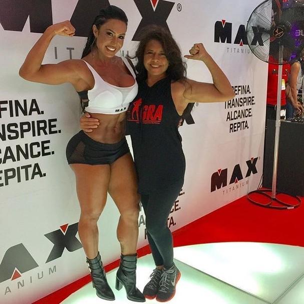 Gracyanne Barbosa e sua mãe (Foto: Instagram/Reprodução)