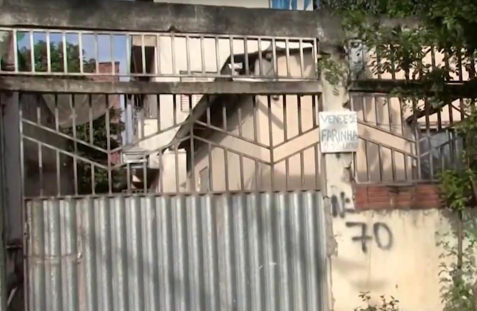 Casa onde menino de 5 anos foi morto pelo padrasto na Bahia  â?? Foto: Reprodução/TV Santa Cruz