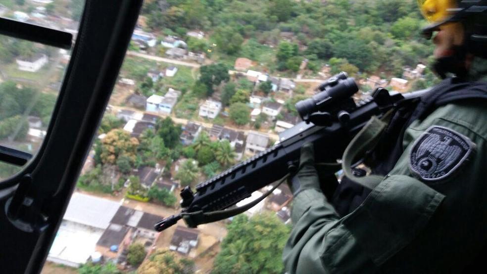 Operação da PM em Viana (Foto: Divulgação/ Polícia Militar)