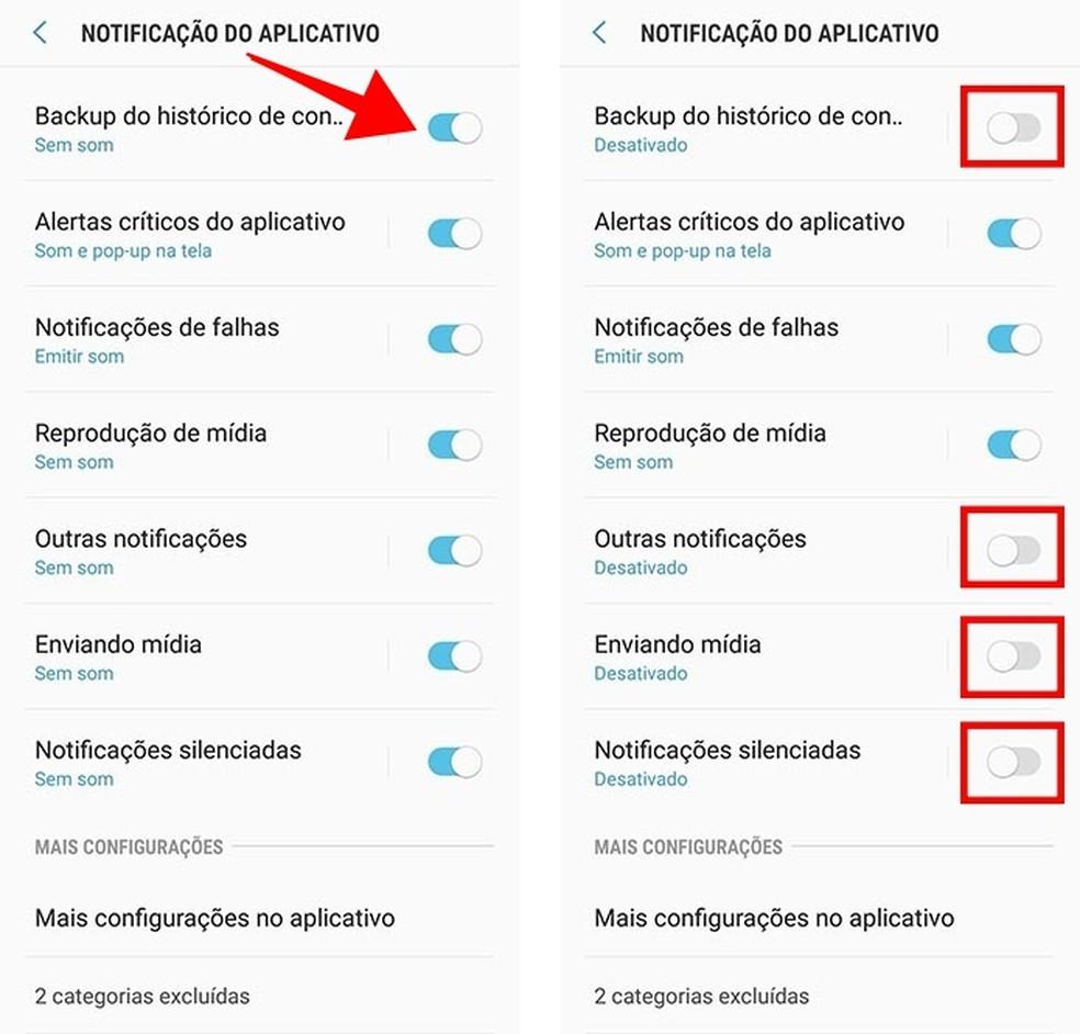 Desative notificações incômodas do WhatsApp no Android 8 (Foto: Reprodução/Paulo Alves)