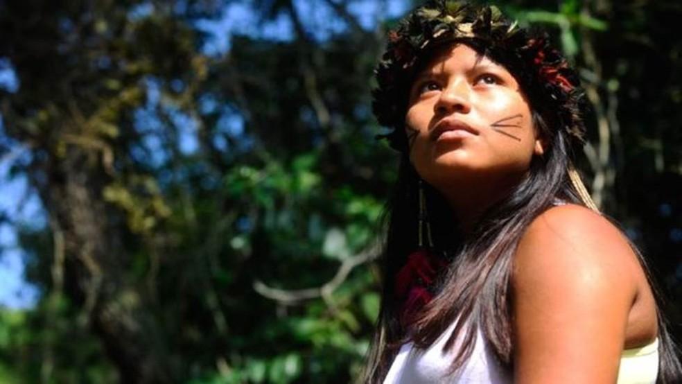 Considerado vulnerável pela Unesco, o idioma Mbyá Guarani, do tronco tupi-guarani, é falado por cerca de 6 mil pessoas no Brasil  (Foto: Tânia Rêgo/Agência Brasil)