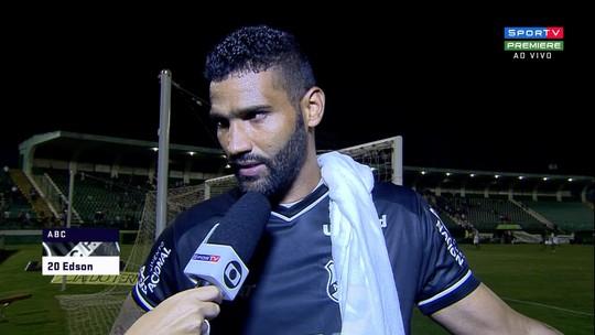 """Edson vê ABC pouco efetivo contra Guarani: """"Não criamos oportunidade"""""""