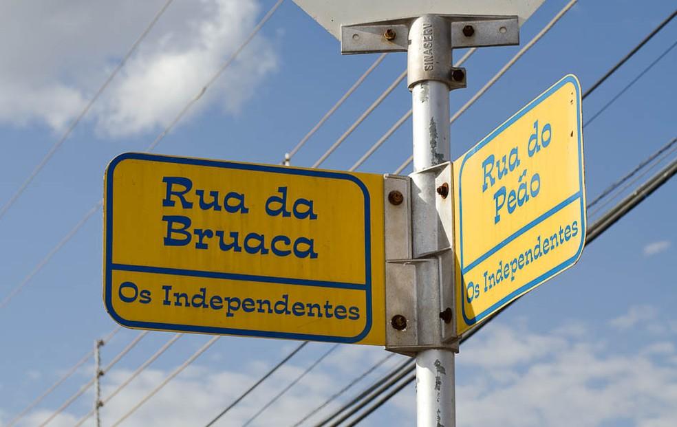Parque do Peão tem ruas com nomes próprios (Foto: Érico Andrade/ G1)
