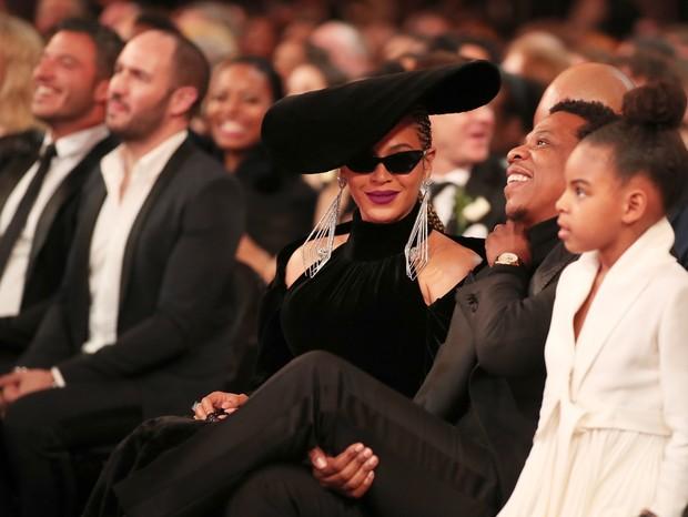 Beyoncé, Jay-Z e Blue Ivy Carter, a filha mais velha do casal (Foto: Getty Images)
