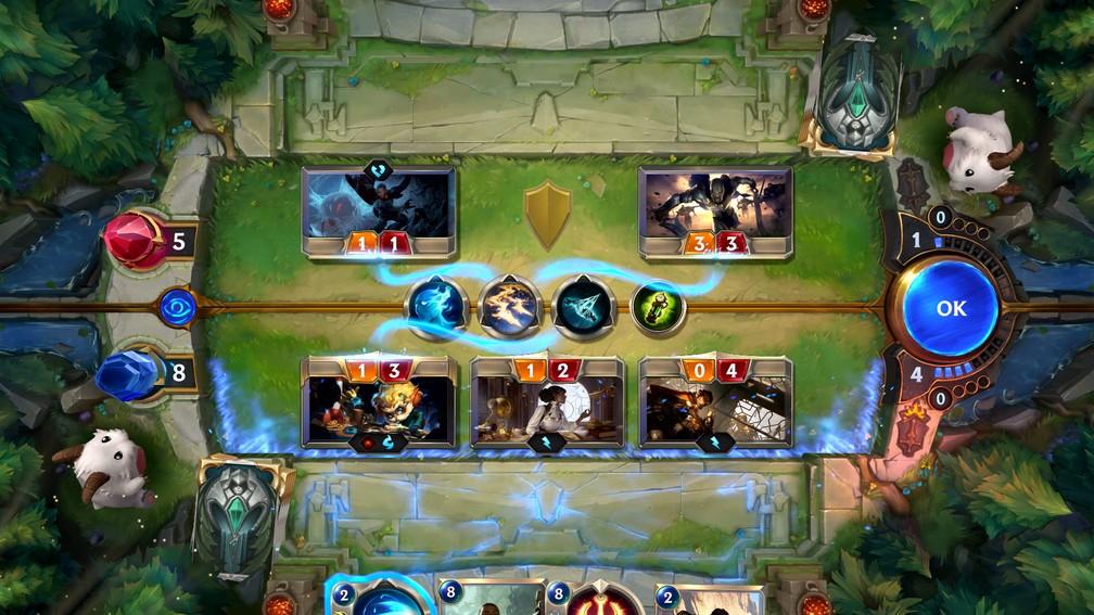 'Legends of Runeterra' leva 'LoL' para um jogo de cartas — Foto: Divulgação