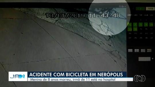 Vídeo mostra acidente que matou menino e deixou irmã ferida em Nerópolis