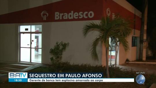 Gerente de banco é feito refém e tem explosivos presos ao corpo na Bahia; família foi sequestrada