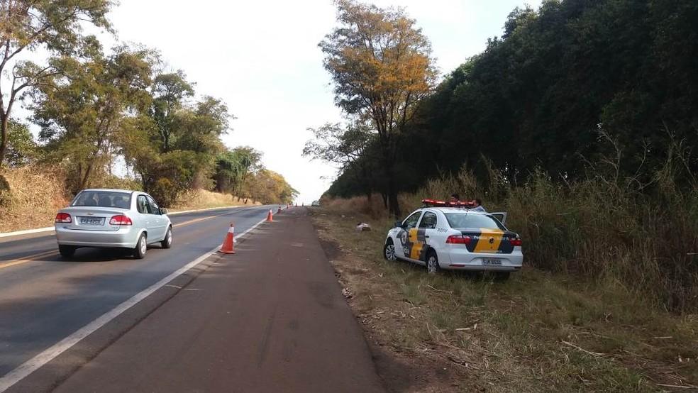 Local do acidente em Boa Esperança do Sul (Foto: Willian Oliveira/ A CidadeON/ Araraquara)