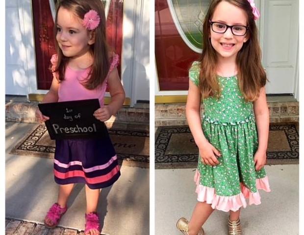 A pequena Peyton (Foto: Reprodução/ Facebook)