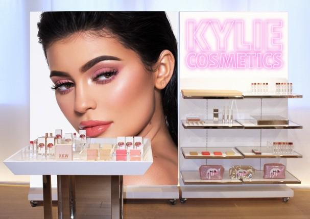 Perspectiva da pop-up da Kylie Cosmetics em uma Topshop (Foto: Divulgação)