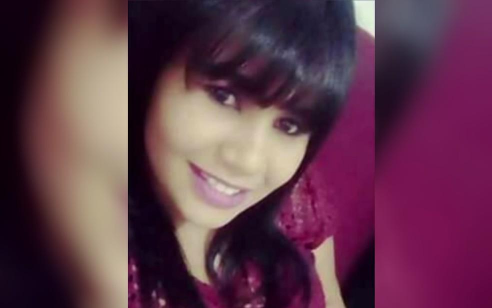 Núbia Ribeiro Lemes Rosa, 19, foi encontrada morta (Foto: Reprodução/TV Anhanguera)