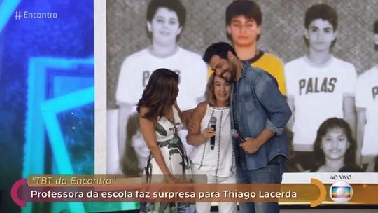 Thiago Lacerda reencontra professora que falava que ele seria o novo Tarcísio Meira