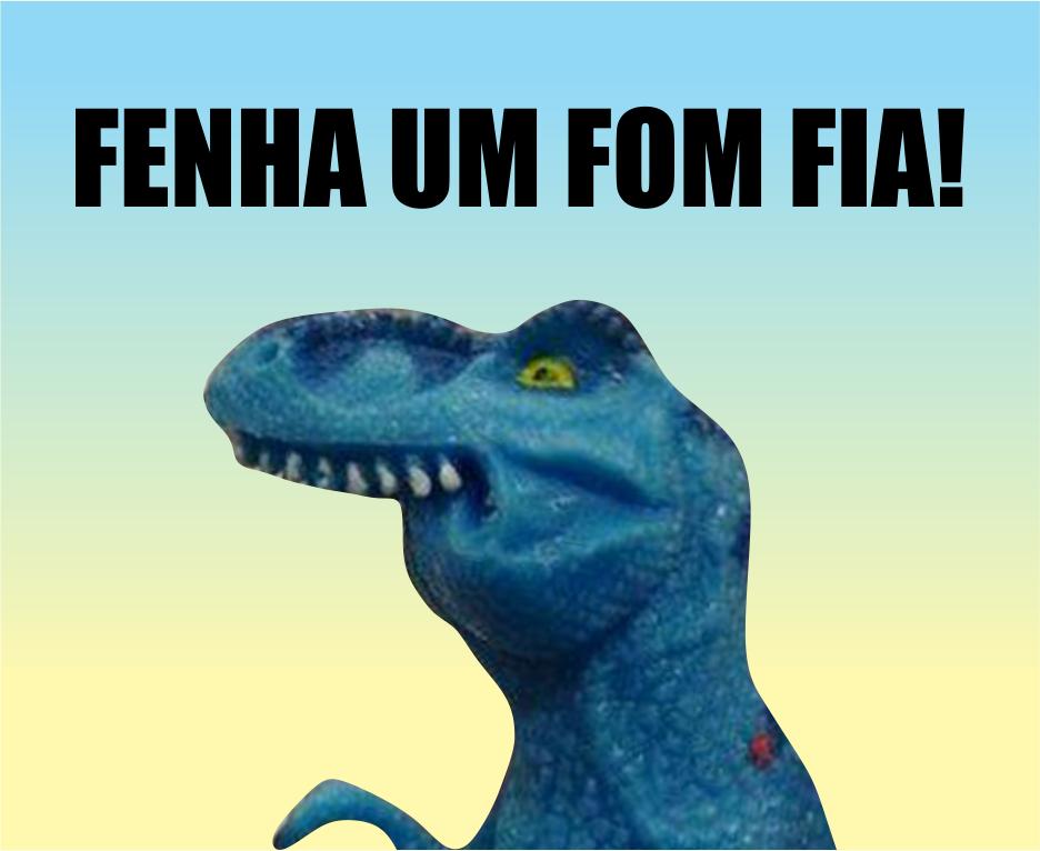 O meme 'Dinofauro', que se tornou uma ideia lucrativa (Foto: Reprodução)