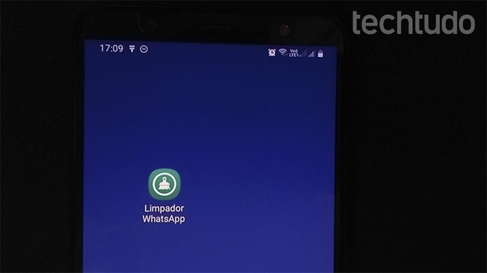 Limpador WhatsApp é um aplicativo para limpar as mídias do mensageiro — Foto: Reprodução/Gabrielle Ferreira