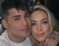 O casal de cantores Tiago Piquilo e Tania Mara