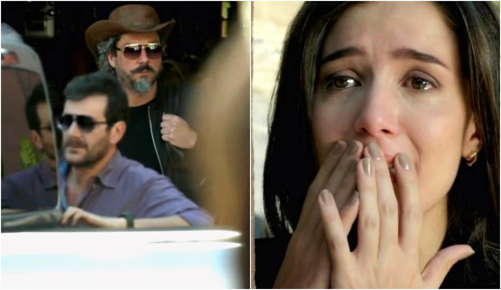 Cora (Marjorie Estiano) vê José Alfredo (Alexandre Nero) mais vivo que nunca - 'Império' — Foto: Globo