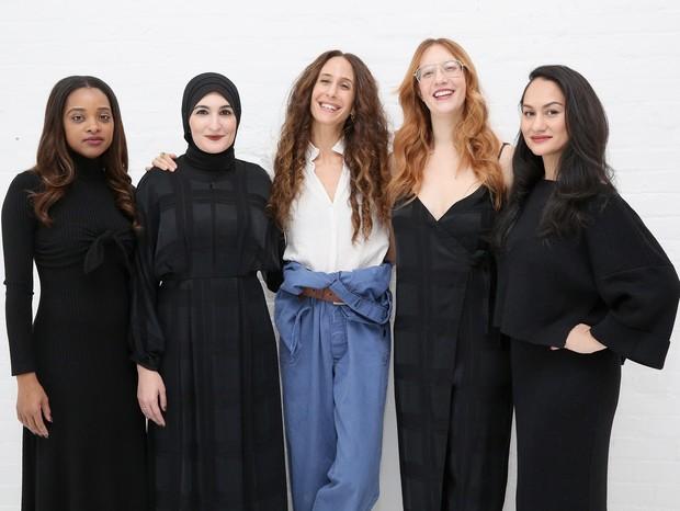 Tamika Mallory, Linda Sarsour, Mara Hoffman, Bob Bland e Carmen Perez (Foto: Getty)