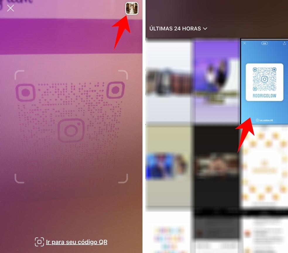 Também é possível ler QR Codes do Instagram armazenados na galeria — Foto: Reprodução/Rodrigo Fernandes